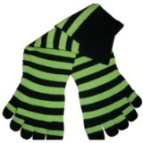 Black & Green Apple Stripe Toe Socks!
