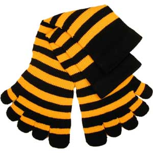 black yellow stripe toe socks!