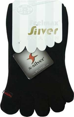 Womens Black Diabetic Toesocks