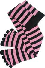 Knee High Black Pink toe socks!